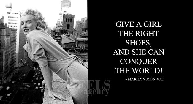 heels agency marilyn monroe demi karan