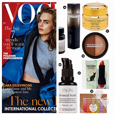 La Curcio Collections featured in Beauty pages of VOGUE, ELLE, Harper's BAZAAR, GLAMOUR, TATLER, BRIDES and many more...