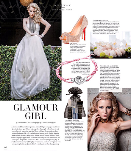 Jaimie Hilfiger featuring La Curcio Beauty Collection for BRIDES Magazine.